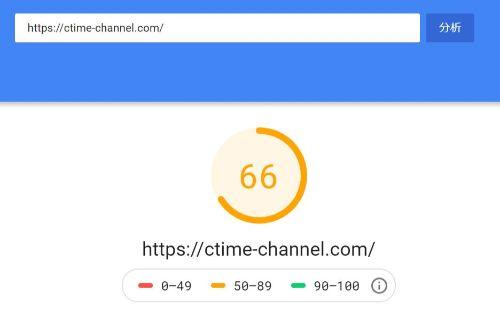 JINサイト表示速度